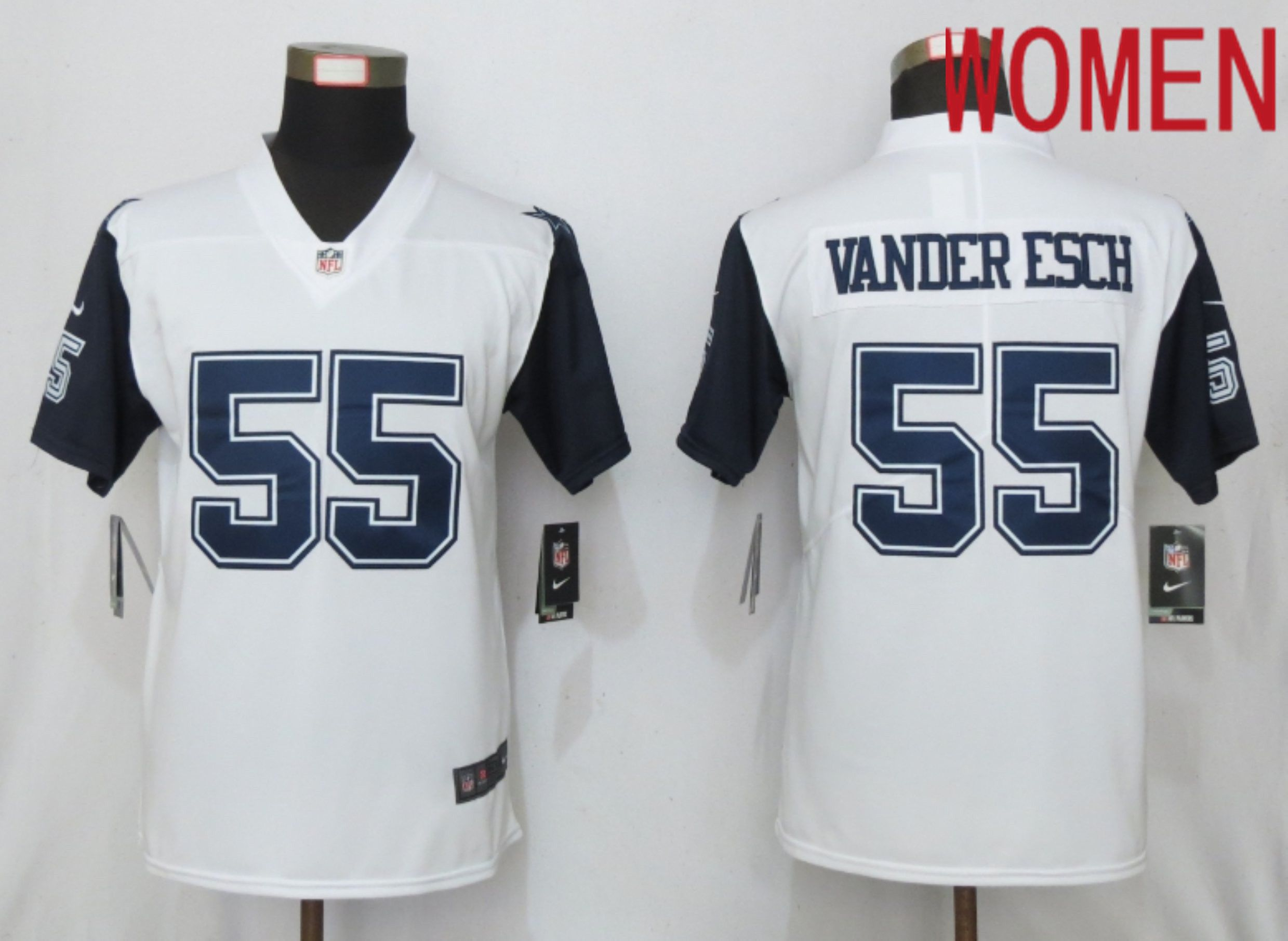 Women Dallas cowboys 55 Vander esch White Nike Thanksgiving Limited NFL Jerseys