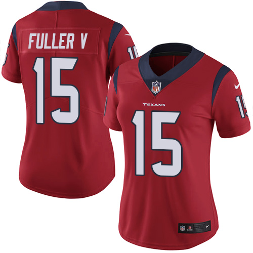 Women Houston Texans 15 Fuller V red Nike Vapor Untouchable Limited NFL Jersey