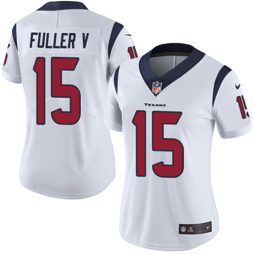 Women Houston Texans 15 Fuller V white Nike Vapor Untouchable Limited NFL Jersey