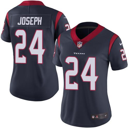 Women Houston Texans 24 Joseph blue Nike Vapor Untouchable Limited NFL Jersey