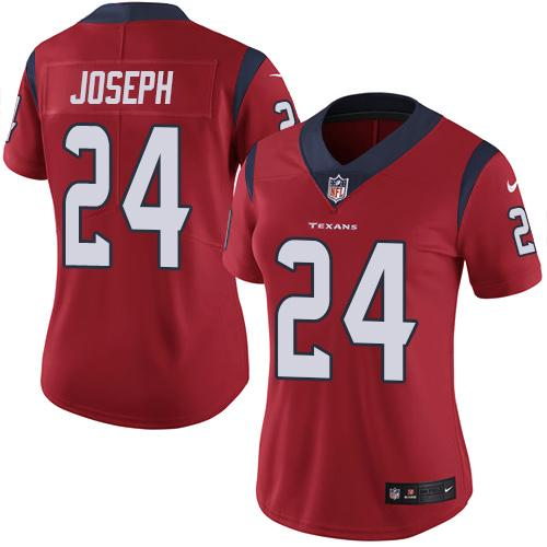 Women Houston Texans 24 Joseph red Nike Vapor Untouchable Limited NFL Jersey