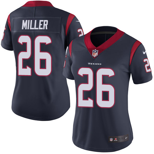 Women Houston Texans 26 Miller blue Nike Vapor Untouchable Limited NFL Jersey