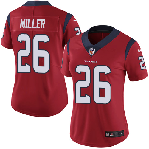 Women Houston Texans 26 Miller red Nike Vapor Untouchable Limited NFL Jersey
