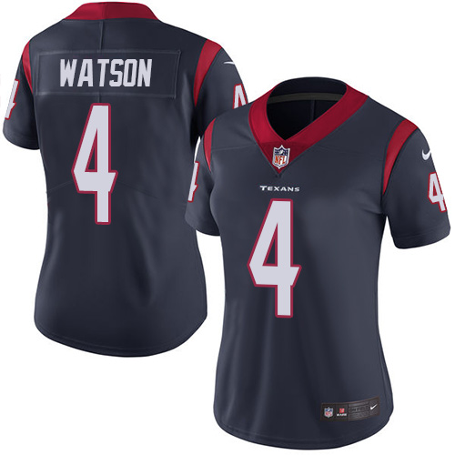 Women Houston Texans 4 Watson blue Nike Vapor Untouchable Limited NFL Jersey