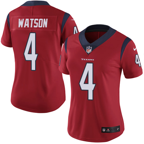 Women Houston Texans 4 Watson red Nike Vapor Untouchable Limited NFL Jersey