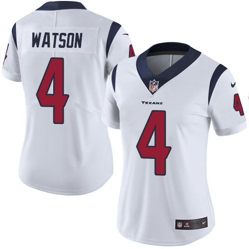 Women Houston Texans 4 Watson white Nike Vapor Untouchable Limited NFL Jersey