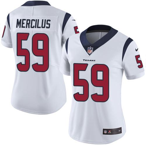 Women Houston Texans 59 Mercilus white Nike Vapor Untouchable Limited NFL Jersey