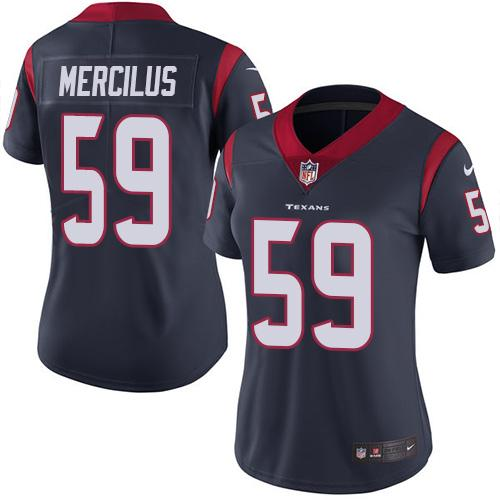 Women Houston Texans 59 Mercilus blue Nike Vapor Untouchable Limited NFL Jersey