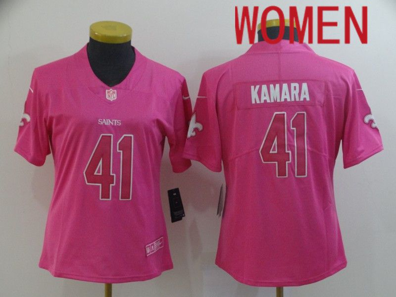 Women New Orleans Saints 41 Kamara Pink Nike Vapor Untouchable Limited NFL Jersey