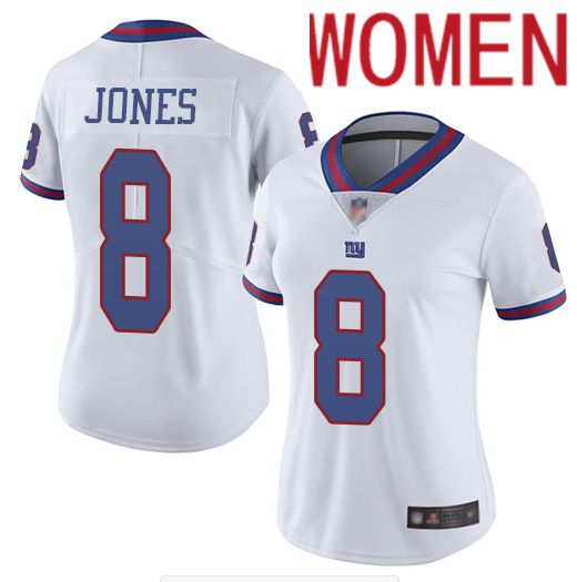 Women New York Giants 8 Jones White Nike Vapor Untouchable Limited NFL Jersey
