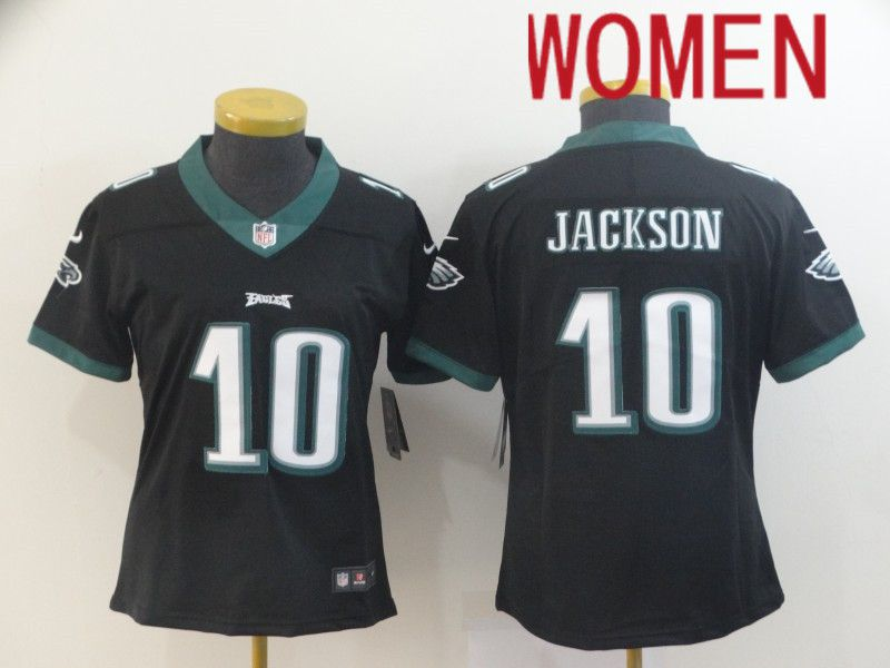 Women Philadelphia Eagles 10 Jackson Black Nike Vapor Untouchable Limited NFL Jersey