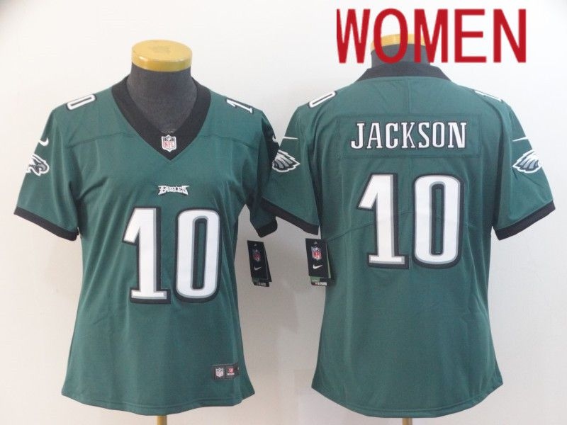 Women Philadelphia Eagles 10 Jackson Green Nike Vapor Untouchable Limited NFL Jersey