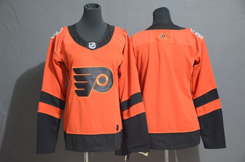 Women Philadelphia Flyers Blank Orange Adidas Third Edition Adult NHL Jersey