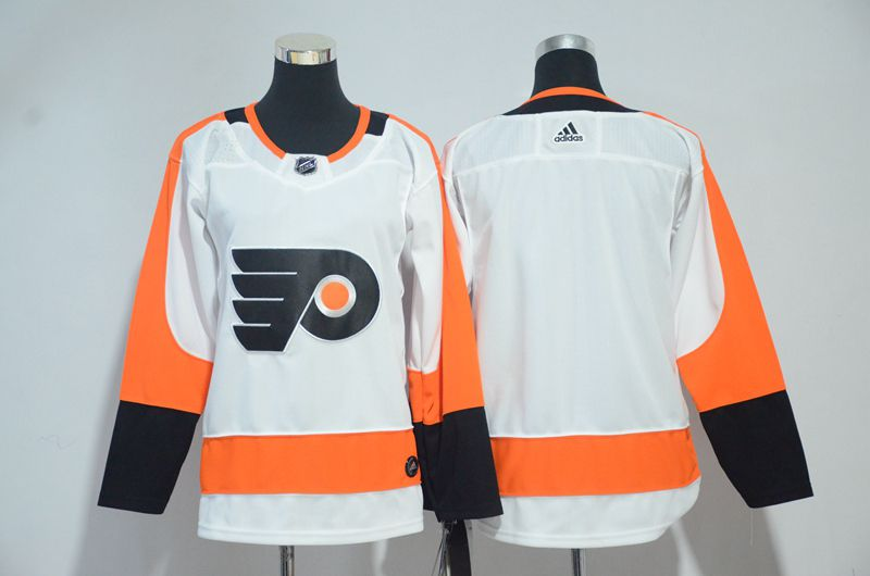 Women Philadelphia Flyers Blank White Adidas Stitched NHL Jersey