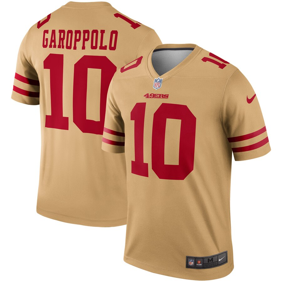Women San Francisco 49ers 10 Garoppolo yellow Nike Vapor Untouchable Limited NFL Jersey