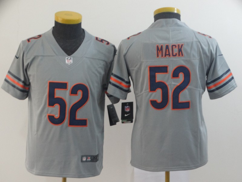Youth Chicago Bears 52 Mack Grey Nike Limited NFL Jerseys