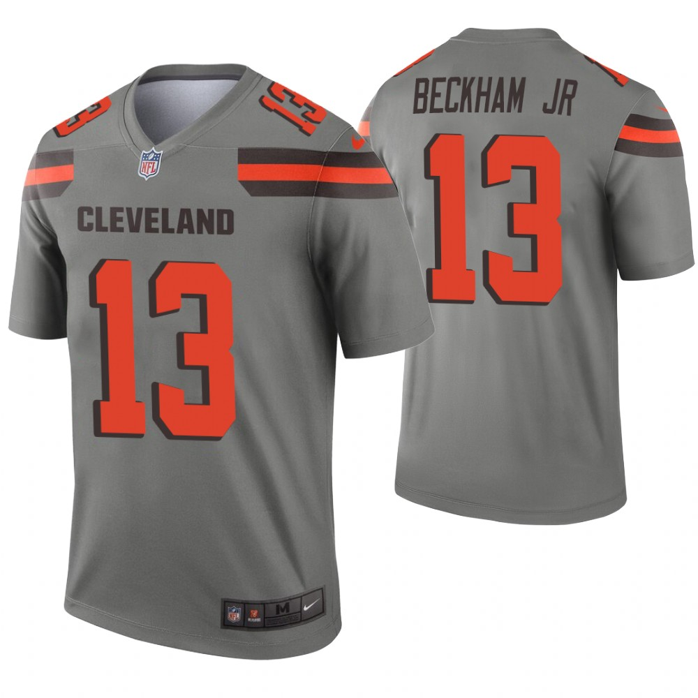 Youth Cleveland Browns 13 Beckham Jr Grey Nike Vapor Untouchable Limited NFL Jersey