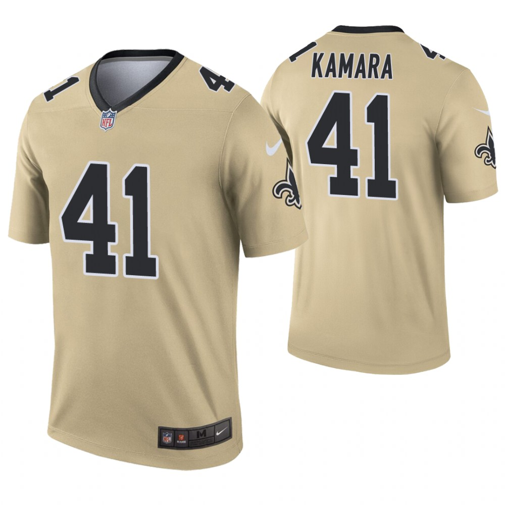 Youth New Orleans Saints 41 Kamara Yellow Nike Vapor Untouchable Limited NFL Jersey