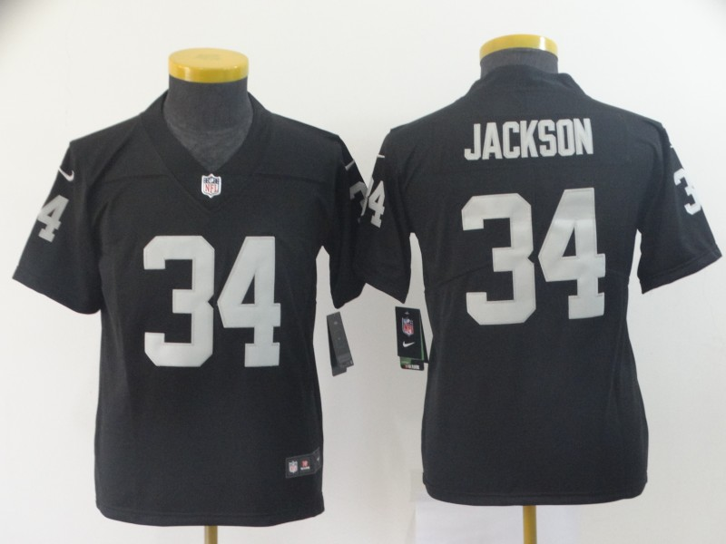 Youth Oakland Raiders 34 Jackson Black Nike Vapor Untouchable Limited NFL Jerseys