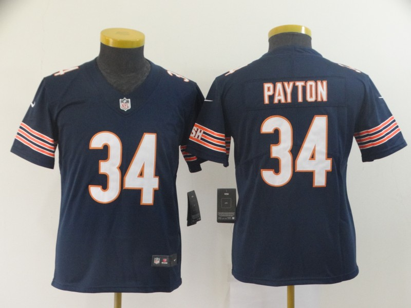 youth Chicago Bears 34 Payton blue Nike Vapor Untouchable Limited NFL Jerseys