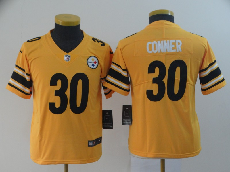 youth Pittsburgh Steelers 30 Conner yellow Nike Limited NFL Jerseys