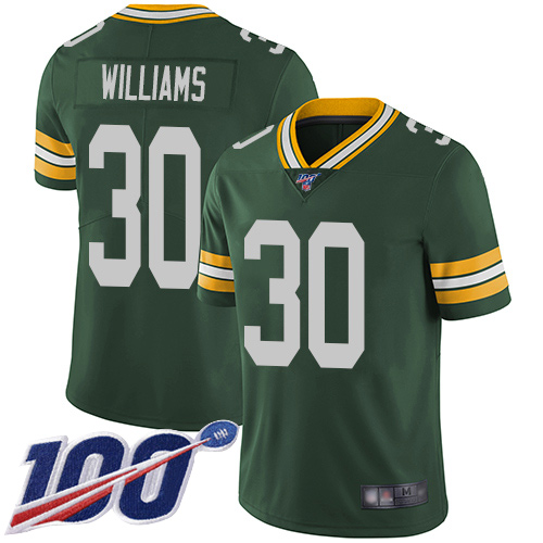 Green Bay Packers Limited Green Men 30 Williams Jamaal Home Jersey Nike NFL 100th Season Vapor Untouchable