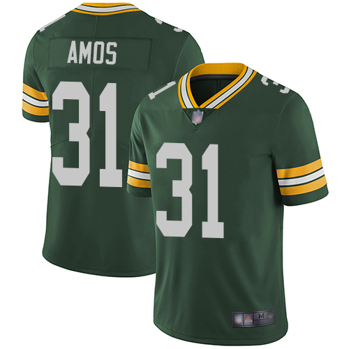 Green Bay Packers Limited Green Men 31 Amos Adrian Home Jersey Nike NFL Vapor Untouchable