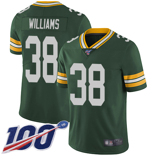Green Bay Packers Limited Green Men 38 Williams Tramon Home Jersey Nike NFL 100th Season Vapor Untouchable