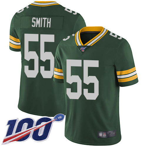 Green Bay Packers Limited Green Men 55 Smith Za Darius Home Jersey Nike NFL 100th Season Vapor Untouchable