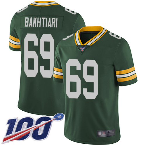 Green Bay Packers Limited Green Men 69 Bakhtiari David Home Jersey Nike NFL 100th Season Vapor Untouchable