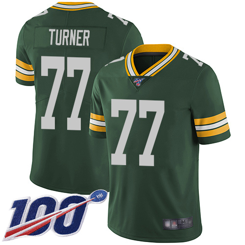 Green Bay Packers Limited Green Men 77 Turner Billy Home Jersey Nike NFL 100th Season Vapor Untouchable