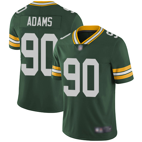 Green Bay Packers Limited Green Men 90 Adams Montravius Home Jersey Nike NFL Vapor Untouchable