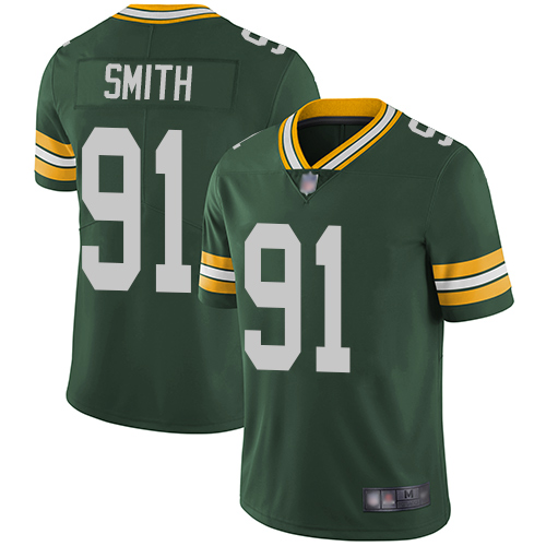 Green Bay Packers Limited Green Men 91 Smith Preston Home Jersey Nike NFL Vapor Untouchable