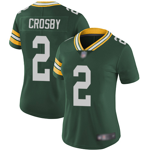 Green Bay Packers Limited Green Women 2 Crosby Mason Home Jersey Nike NFL Vapor Untouchable