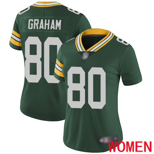 Green Bay Packers Limited Green Women 80 Graham Jimmy Home Jersey Nike NFL Vapor Untouchable