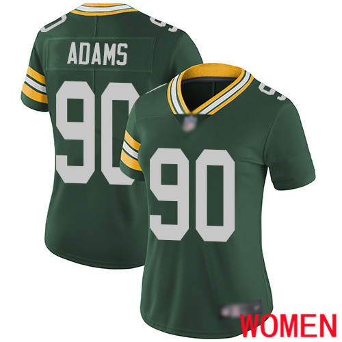 Green Bay Packers Limited Green Women 90 Adams Montravius Home Jersey Nike NFL Vapor Untouchable