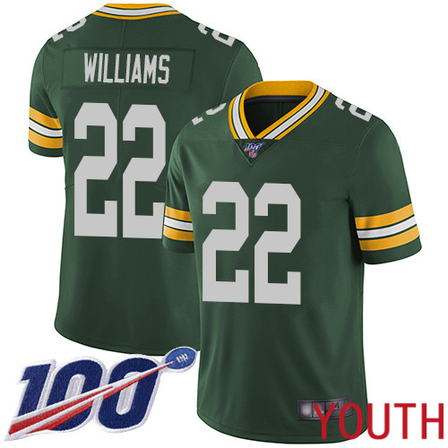Green Bay Packers Limited Green Youth 22 Williams Dexter Home Jersey Nike NFL 100th Season Vapor Untouchable