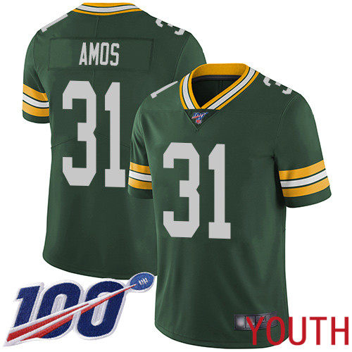 Green Bay Packers Limited Green Youth 31 Amos Adrian Home Jersey Nike NFL 100th Season Vapor Untouchable