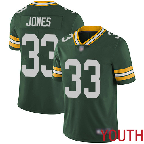 Green Bay Packers Limited Green Youth 33 Jones Aaron Home Jersey Nike NFL Vapor Untouchable