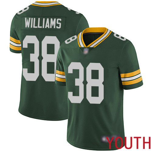 Green Bay Packers Limited Green Youth 38 Williams Tramon Home Jersey Nike NFL Vapor Untouchable