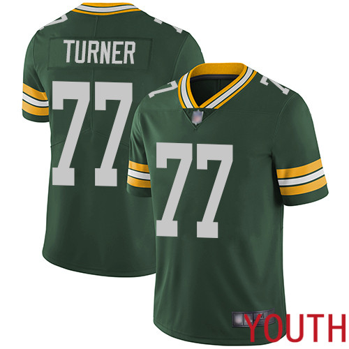 Green Bay Packers Limited Green Youth 77 Turner Billy Home Jersey Nike NFL Vapor Untouchable