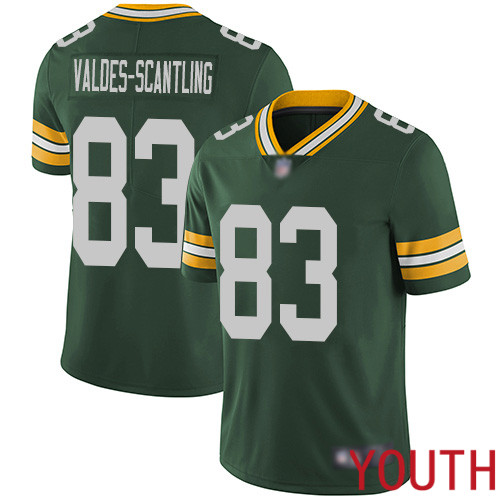 Green Bay Packers Limited Green Youth 83 Valdes-Scantling Marquez Home Jersey Nike NFL Vapor Untouchable