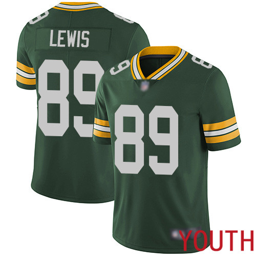Green Bay Packers Limited Green Youth 89 Lewis Marcedes Home Jersey Nike NFL Vapor Untouchable
