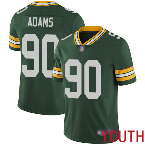 Green Bay Packers Limited Green Youth 90 Adams Montravius Home Jersey Nike NFL Vapor Untouchable