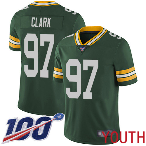 Green Bay Packers Limited Green Youth 97 Clark Kenny Home Jersey Nike NFL 100th Season Vapor Untouchable