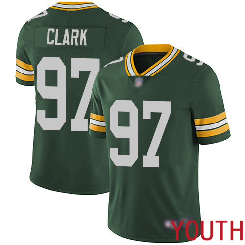 Green Bay Packers Limited Green Youth 97 Clark Kenny Home Jersey Nike NFL Vapor Untouchable