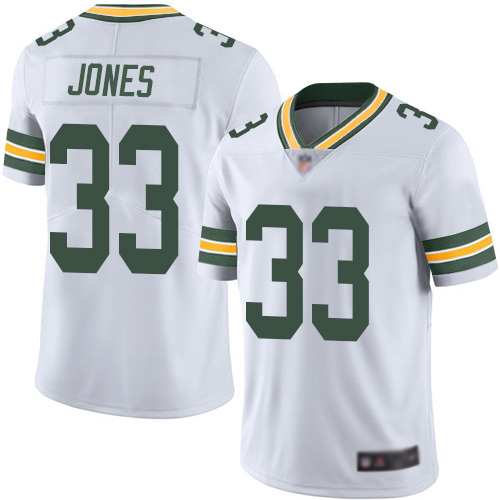 Green Bay Packers Limited White Men 33 Jones Aaron Road Jersey Nike NFL Vapor Untouchable