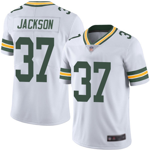 Green Bay Packers Limited White Men 37 Jackson Josh Road Jersey Nike NFL Vapor Untouchable