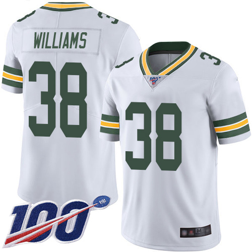 Green Bay Packers Limited White Men 38 Williams Tramon Road Jersey Nike NFL 100th Season Vapor Untouchable