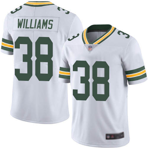 Green Bay Packers Limited White Men 38 Williams Tramon Road Jersey Nike NFL Vapor Untouchable